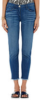 3x1 Women's Crop Skinny Jeans-BLUE