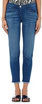 3x1 Women's Crop Skinny Jeans-BLUE