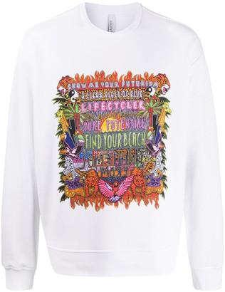 Neil Barrett Find Your Beach print sweatshirt