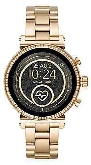 Michael Kors Sofie Heart Rate Goldtone Stainless Steel Bracelet Smartwatch