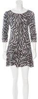 Alice + Olivia Silk Zebra Print Dress