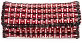 Balenciaga Bistrot braided patent clutch