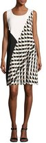 Lafayette 148 New York Diega Sleeveless Divided Dot-Print Tech Dress, Multi, Plus Size