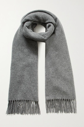 Acne Studios Fringed Wool Scarf - Gray
