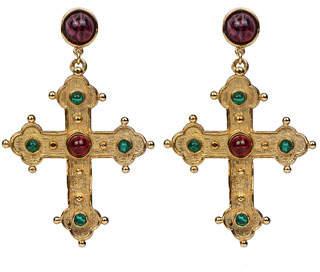 Ben-Amun Multicolor Cross Dangle Earrings