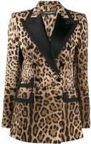 Dolce & Gabbana Leopard Print Blazer