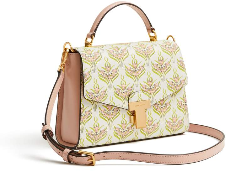 Tory Burch JULIETTE PRINTED SMALL TOP-HANDLE SATCHEL