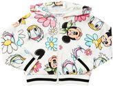 MonnaLisa Disney Print Cotton Zip-Up Sweatshirt
