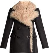 Isabel Marant Berit double-breasted shearling-lined coat