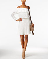 MICHAEL Michael Kors Embroidered Off-The-Shoulder Peasant Dress