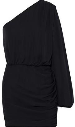 Mason by Michelle Mason One-shoulder Ruched Silk-chiffon Mini Dress