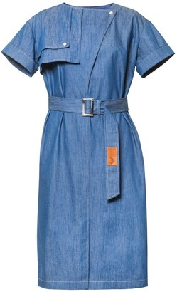 Diana Arno Agatha Denim Dress In Blue