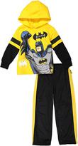 Children's Apparel Network Yellow Batman Knit Hooded Pullover & Pants Set - Toddler