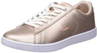 Lacoste Women's Carnaby Evo 118 7 SPW Trainers, Pink (NAT/Wht 7f8)