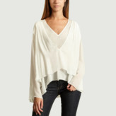 Rioni IRO Paris - White Viscose Blouse - 36 | white | viscose - White/White