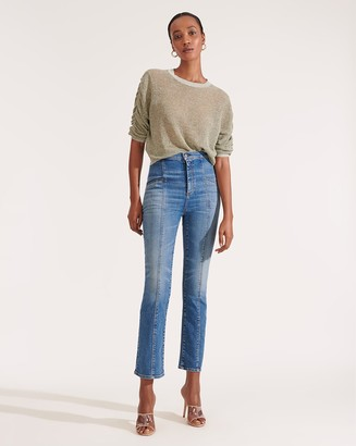 Veronica Beard Carly High-Rise Kick-Flare Jean