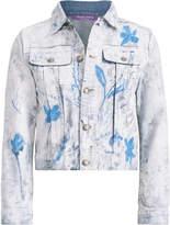 Ralph Lauren Cropped Trucker Painted Jacket