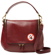 Anya Hindmarch Maxi No Mobiles Leather & Snakeskin Zip Satchel