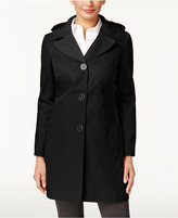 Anne Klein Hooded A-Line Trench Coat