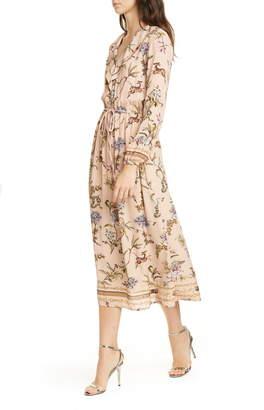 Seventy Floral Print Long Sleeve Dress