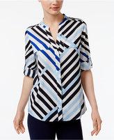 Calvin Klein Striped Utility Blouse