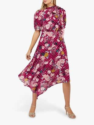 Monsoon Frances Floral Spot Print Dress