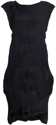 Issey Miyake Dots Stretch Pleated Sheath Dress