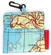 Kikkerland Design World Map Travel Laundry Bag in Blue