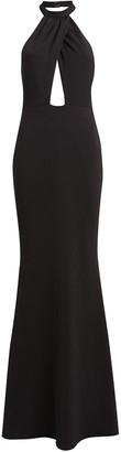 Katie May Petra Jersey Halter Gown