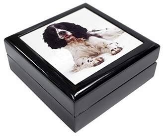 Black and White Springer Spaniel Keepsake/Jewellery Box Christmas Gift