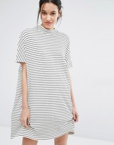 Just Female Nora Dress in Stripe with Short Sleeves