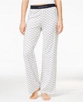 Tommy Hilfiger Logo-Waistband Printed Pajama Pants
