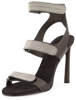 Brunello Cucinelli Monili Triple-Strap High-Heel Sandal