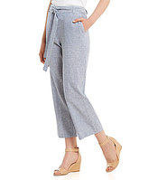 Antonio Melani Simi Stretch Linen Crop Pant