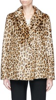 Theory 'Clairene' leopard print faux fur jacket