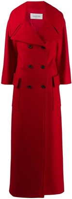 Valentino Long Double-Breasted Coat
