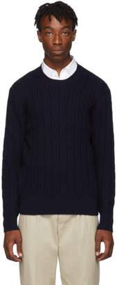Ami Alexandre Mattiussi Navy Merino Crewneck Sweater