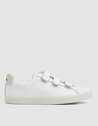 Veja Esplar Leather 3-Lock Sneaker In Extra White in White