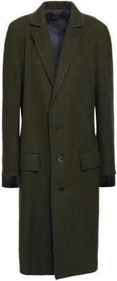 Haider Ackermann Satin-trimmed Wool Coat