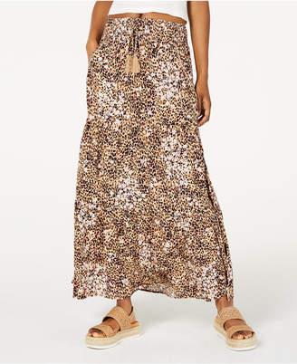American Rag Juniors' Printed Smocked-Waist Maxi Skirt