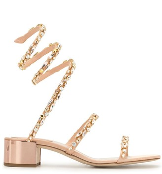 Rene Caovilla Cleo crystal-embellished 40mm sandals