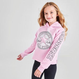 Converse Girls' Faux Sequin Chuck Taylor Patch Pullover Hoodie