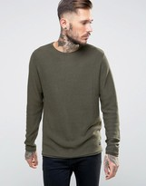 ONLY & SONS Knitted Sweater with Raw Edges