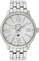 Beverly Hills Polo Club Mens Silver Tone Round Dial Bracelet Watches
