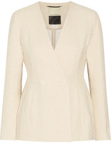 By Malene Birger Double-breasted Cotton-blend Tweed Blazer - Cream