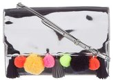 Rebecca Minkoff Sofia Pom-Pom Metallic Clutch w/ Tags