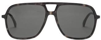 Gucci Aviator Tortoiseshell-acetate Sunglasses - Tortoiseshell