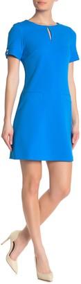 Tommy Hilfiger Front Keyhole Short Sleeve Dress