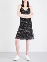 Mo&Co. Floral-print crepe slip dress