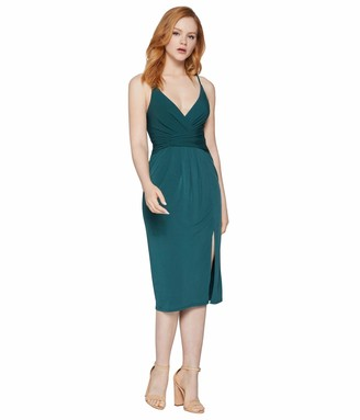 BCBGeneration Women's Faux Waist Wrap Cocktail Dress